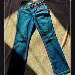 Blue Jeans with Designs on Pockets
